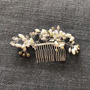 Wedding Pearl Silver Hair Comb
